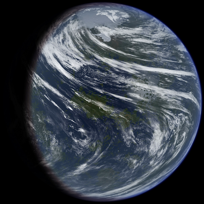 "<span class=""caption"">An artist's impression of what a formerly water-rich Venus may have looked like.</span> <span class=""attribution""><a class=""link rapid-noclick-resp"" href=""https://upload.wikimedia.org/wikipedia/commons/b/b9/TerraformedVenus.jpg"" rel=""nofollow noopener"" target=""_blank"" data-ylk=""slk:Daein Ballard"">Daein Ballard</a>, <a class=""link rapid-noclick-resp"" href=""http://creativecommons.org/licenses/by-sa/4.0/"" rel=""nofollow noopener"" target=""_blank"" data-ylk=""slk:CC BY-SA"">CC BY-SA</a></span>"