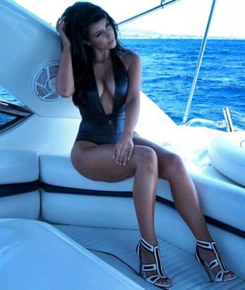 Kim Kardashian tweeted this photo of herself in a bikini, July 15, 2012