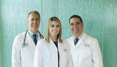 Primary Care Physicians Group changes to PrivaMedis Concierge Medicine in April, the only medical concierge practice in Miami Beach to provide its own physicians 24/7 at Mount Sinai Medical Center. Shown L to R: PrivaMedis internal medicine practitioners Gary Merlino, D.O, Stephanie Perez, D.O., and Alejandro Del Valle, D.O.