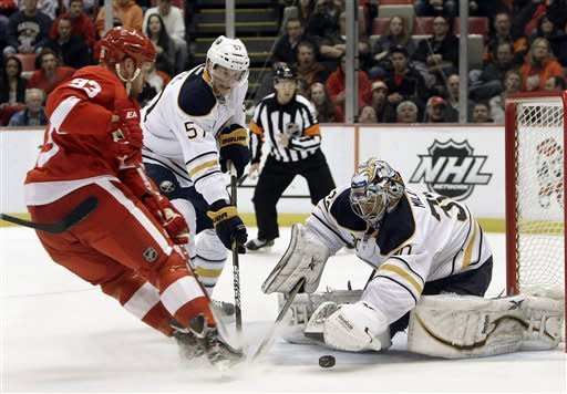 Red Wings top Sabres 5-0 for 15th straight at home