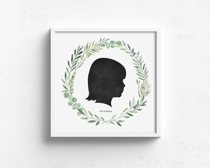 """<p><strong>DevonDesignCo</strong></p><p>etsy.com</p><p><strong>$36.00</strong></p><p><a href=""""https://go.redirectingat.com?id=74968X1596630&url=https%3A%2F%2Fwww.etsy.com%2Flisting%2F597937072%2Fchild-silhouette-portrait-custom&sref=https%3A%2F%2Fwww.womenshealthmag.com%2Flife%2Fg27102977%2Fgifts-for-new-moms%2F"""" rel=""""nofollow noopener"""" target=""""_blank"""" data-ylk=""""slk:Shop Now"""" class=""""link rapid-noclick-resp"""">Shop Now</a></p><p>A new mom will never tire of looking at a watercolor silhouette portrait of her baby (especially once that baby eventually grows up). All you need is a picture of her baby's profile to order this custom art print, then sit back, relax, and watch your mama-friend's heart melt.</p>"""