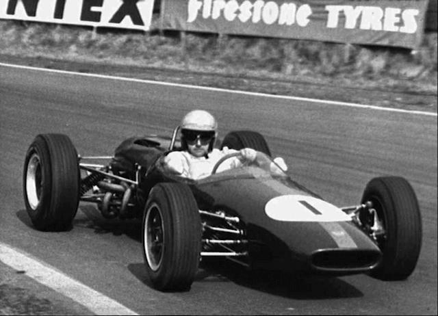 In this April 3, 1965 file photo Australian racing driver Jack Brabham competes at Oulton Park, in Cheshire, England. Three-time Formula One champion Brabham died early Monday, May 19, 2014, at his home on the Gold Coast, the Australian Grand Prix Corporation said. He was 88. (AP Photo/File)