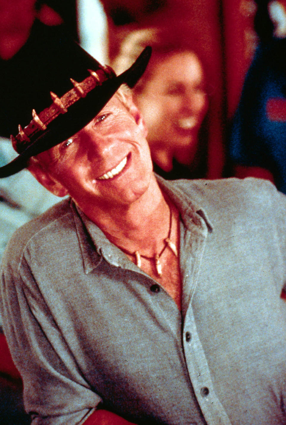 391562 02: Actor Paul Hogan poses for a photo on the set of the film