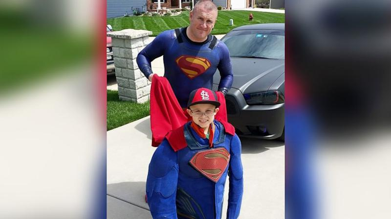 Texas Cop Drives 11 Hours, Dresses as Superman to Surprise Boy With Cancer