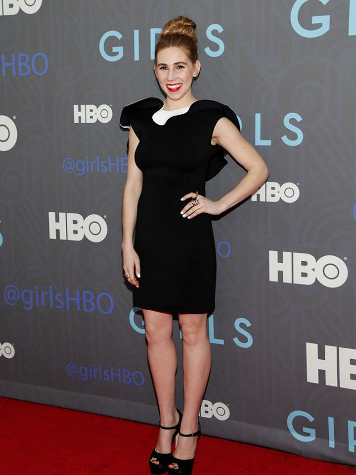 "Zosia Mamet attends HBO's premiere of ""Girls"" Season 2 at the NYU Skirball Center on January 9, 2013 in New York City."