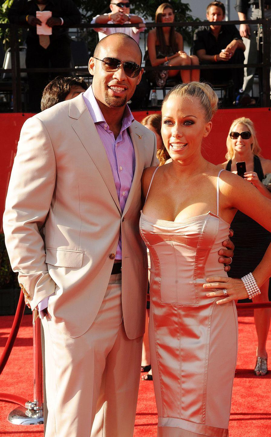 """<p>This couple documented their marital troubles on their reality show, <em>Kendra On Top</em> in 2014, when rumors of Hank stepping out on a pregnant Kendra surfaced. The two worked on their marriage in front of the cameras for as long as they could before separating and divorcing in 2018, per <a href=""""https://people.com/tv/kendra-wilkinson-hank-baskett-marriage-cheating-scandal/"""" rel=""""nofollow noopener"""" target=""""_blank"""" data-ylk=""""slk:People"""" class=""""link rapid-noclick-resp""""><em>People</em></a>.</p>"""