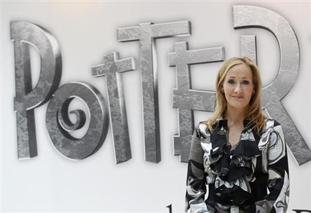 British author JK Rowling, creator of the Harry Potter series of books, poses during the launch of new online website Pottermore in London