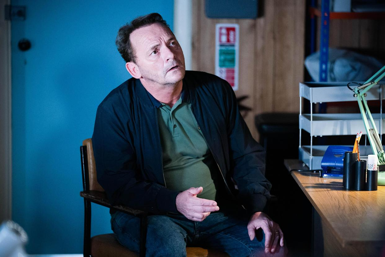 WARNING: Embargoed for publication until 00:00:01 on 20/07/2021 - Programme Name: EastEnders - July-September 2021 - TX: 29/07/2021 - Episode: EastEnders - July-September 2021 - 6315 (No. 6315) - Picture Shows: ***EMBARGOED TILL TUESDAY 20TH JULY 2021*** Billy Mitchell (PERRY FENWICK) - (C) BBC - Photographer: Kieron McCarron/Jack Barnes