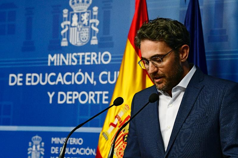 Spanish minister of culture and sports Maxim Huerta resigned a week after the new government took over when it emerged he was fined for tax evasion (AFP Photo/JAVIER SORIANO)