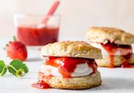 """<p>Strawberries are among the <a href=""""https://www.thedailymeal.com/healthy-eating/foods-neurologists-eat-brain-health?referrer=yahoo&category=beauty_food&include_utm=1&utm_medium=referral&utm_source=yahoo&utm_campaign=feed"""" rel=""""nofollow noopener"""" target=""""_blank"""" data-ylk=""""slk:brain-boosting foods you should be eating"""" class=""""link rapid-noclick-resp"""">brain-boosting foods you should be eating</a>. Turn this sweet summer berry into dessert like people in Nevada do by making these <a href=""""https://www.thedailymeal.com/recipes/strawberry-shortcakes-recipe-0?referrer=yahoo&category=beauty_food&include_utm=1&utm_medium=referral&utm_source=yahoo&utm_campaign=feed"""" rel=""""nofollow noopener"""" target=""""_blank"""" data-ylk=""""slk:light and airy strawberry shortcakes"""" class=""""link rapid-noclick-resp"""">light and airy strawberry shortcakes</a>.</p>"""