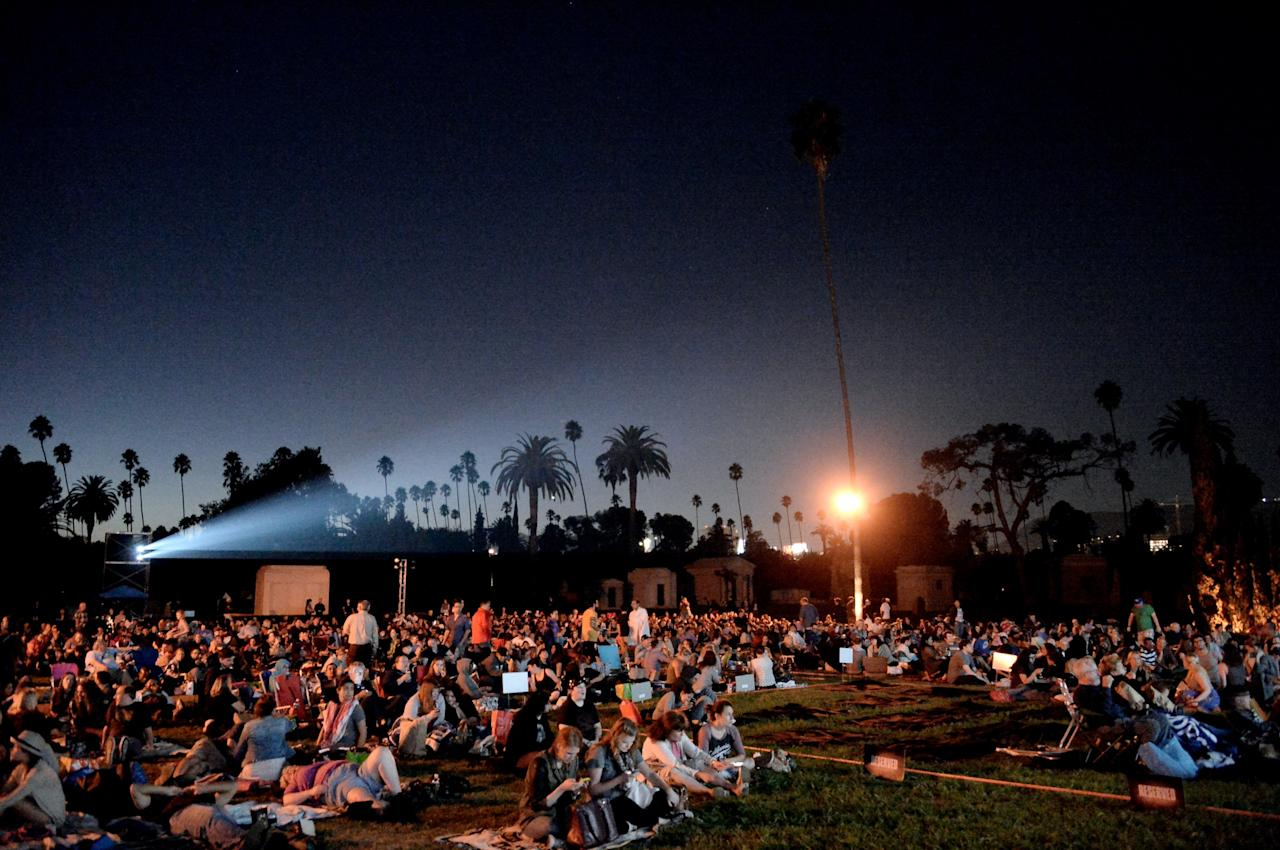 "LOS ANGELES, CA - SEPTEMBER 08: A general view is shown at a special screening of 20th Century Fox Television's ""Sleepy Hollow"" at the Hollywood Forever Cemetery on September 8, 2013 in Los Angeles, California. (Photo by Kevin Winter/Getty Images)"
