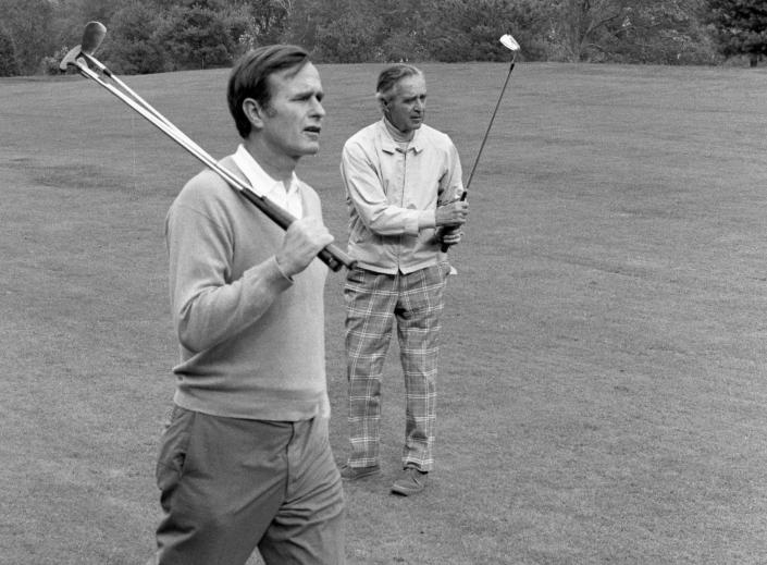 U.S. Ambassador to the United Nations George Bush with his father, former Sen. Prescott Bush, in 1971. (Photo: Leonard McCombe/The Life Picture Collection/Getty Images)