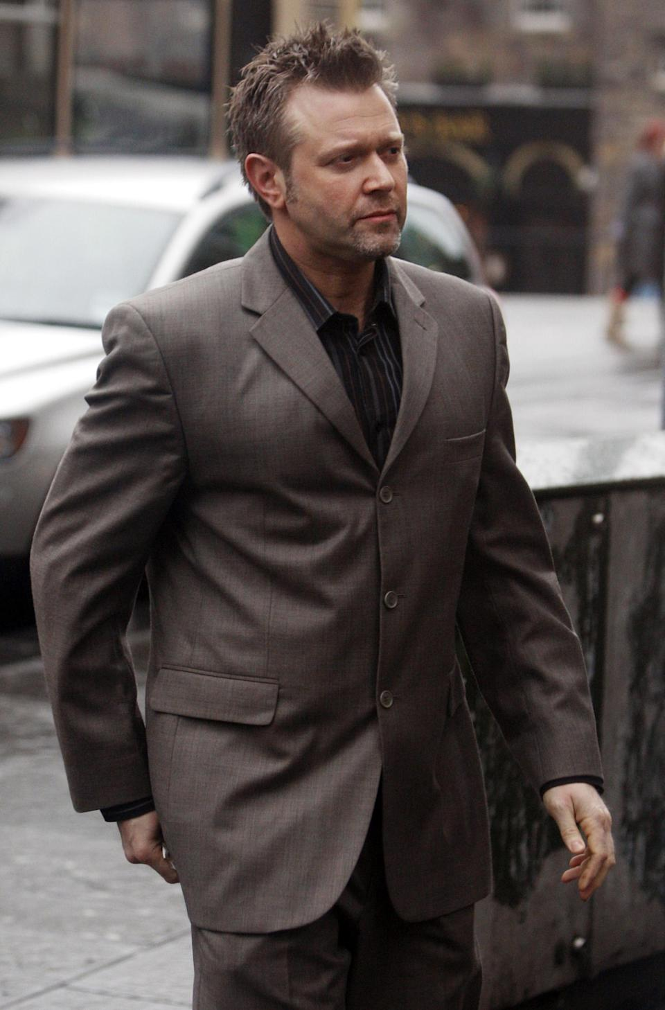 Darren Day arrives at Edinburgh Sheriff Court for a preliminary hearing after he was charged with drink-driving.