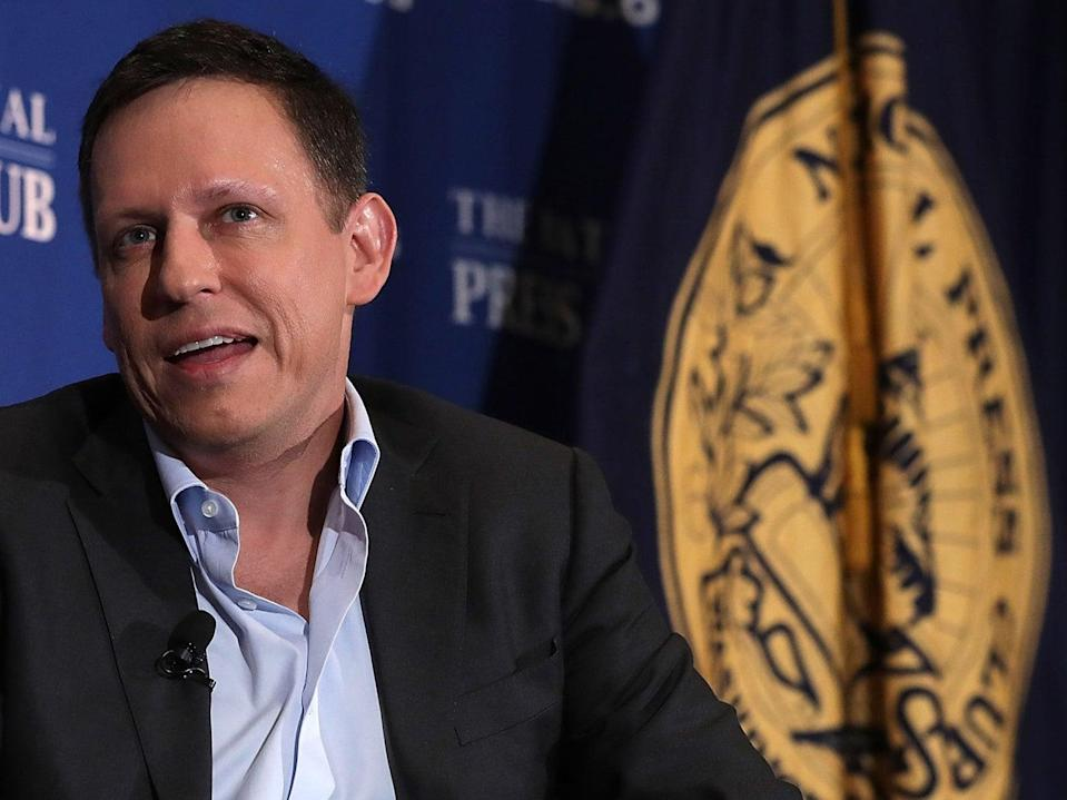 Peter Thiel pictured in at the National Press Club on 31 October, 2016 in Washington, DC (Getty Images)