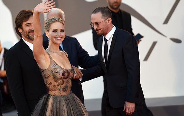The pair were very touchy-feely at the premiere of their new film. Source: SPLASH