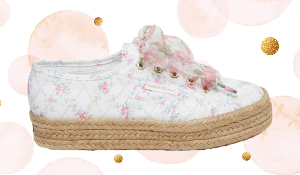 Use the pretty accompanying ribbon laces or switch in a sportier set for a more casual look. (Photo: Superga)