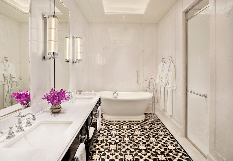 Residence Suite bathroom. Photo: Raffles Hotel Singapore
