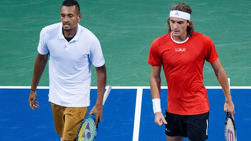 Tsitsipas plays birthday joke on Kyrgios