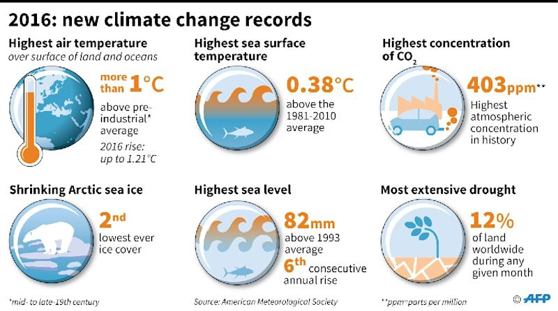 Record measurements of climate change observed in 2016 (AFP Photo/Kun TIAN)