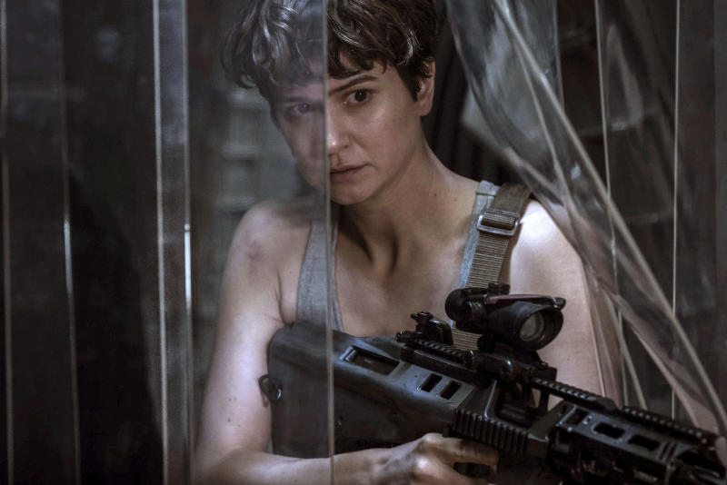 "This image released by Twentieth Century Fox shows Katherine Waterston in a scene from ""Alien: Covenant,"" in theaters on May 19. (Mark Rogers/Twentieth Century Fox via AP)"