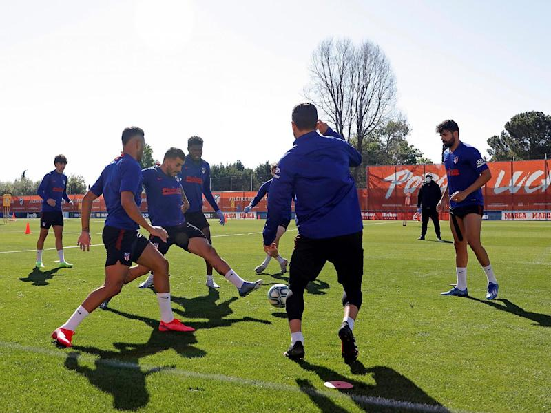 Atletico Madrid were one of the teams to return to group training: EPA