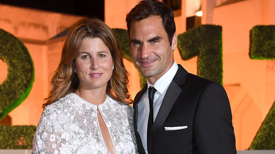Roger Federer and wife Mirka, pictured here at the Wimbledon Winners Dinner in 2017.