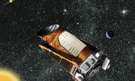 An artist's rendering of the Kepler telescope, which has helped scientists locate 1,235 planets in one small section of the Milky Way Galaxy.