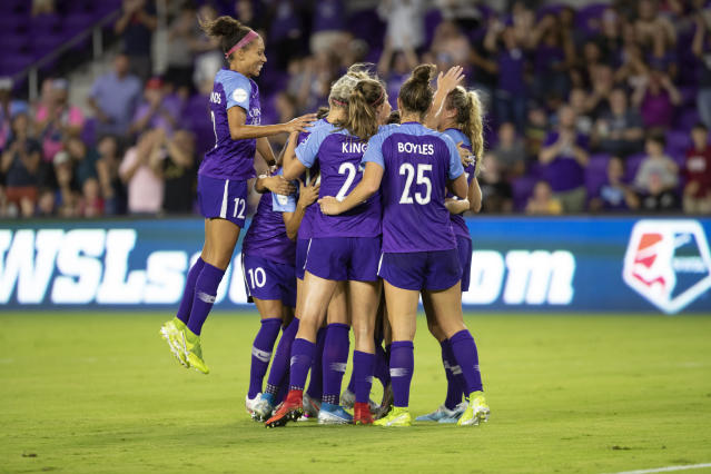 The Orlando Pride will not participate in the NWSL Challenge Cup due to a coronavirus outbreak. (Joe Petro/Icon Sportswire/Getty Images)