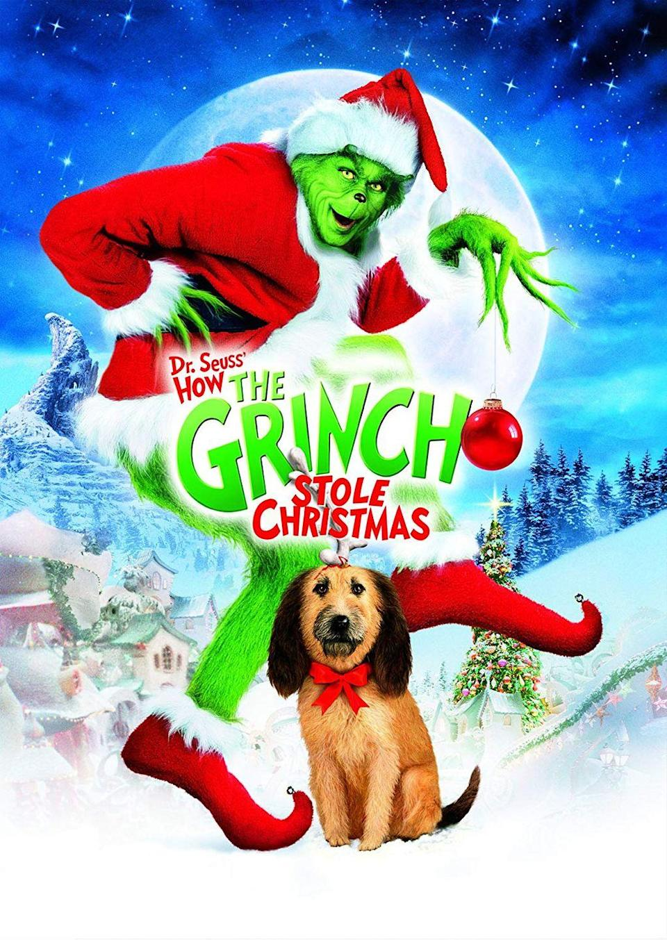 """<p>The Grinch finally got a live-action, feature-length film in 2000 when Jim Carrey took the lead in this whimsical Christmas tale. Before you shave off your green fur to fit in with the cookie-cutter crowd, show off your individuality this season and spread some good cheer.</p><p><a class=""""link rapid-noclick-resp"""" href=""""https://www.amazon.com/Dr-Seuss-Grinch-Stole-Christmas/dp/B009CG9LZI/?tag=syn-yahoo-20&ascsubtag=%5Bartid%7C10055.g.1315%5Bsrc%7Cyahoo-us"""" rel=""""nofollow noopener"""" target=""""_blank"""" data-ylk=""""slk:WATCH NOW"""">WATCH NOW</a></p>"""