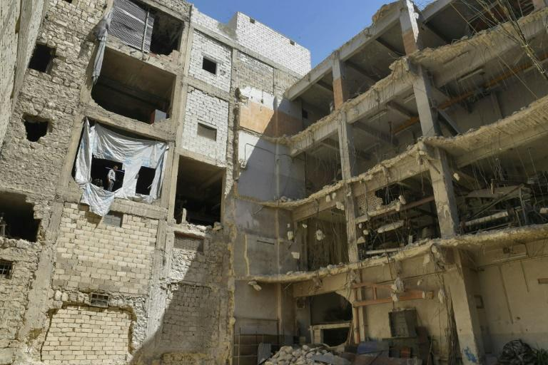 There were 35,000 factories and workshops across the city before the war, but the number dropped to around 2,500 at the peak of the fighting, according to Mustafa Kawwaya, deputy head of the Aleppo chamber of commerce (AFP/-)