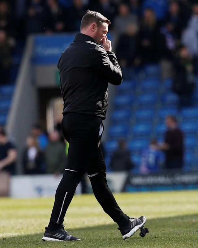 "Soccer Football - League Two - Chesterfield vs Notts County - Proact Stadium, Chesterfield, Britain - March 25, 2018 Notts County Manager Kevin Nolan looks dejected after the match Action Images/Craig Brough EDITORIAL USE ONLY. No use with unauthorized audio, video, data, fixture lists, club/league logos or ""live"" services. Online in-match use limited to 75 images, no video emulation. No use in betting, games or single club/league/player publications. Please contact your account representative for further details."