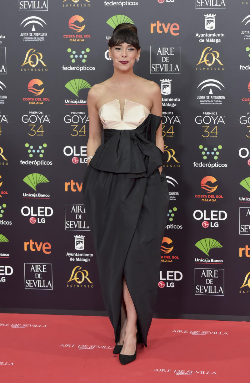 MALAGA, SPAIN - JANUARY 25: Belén Cuesta attends the Goya Cinema Awards 2020 during the 34th edition of the Goya Cinema Awards at Jose Maria Martin Carpena Sports palace on January 25, 2020 in Malaga, Spain. (Photo by Juan Naharro Gimenez/WireImage)