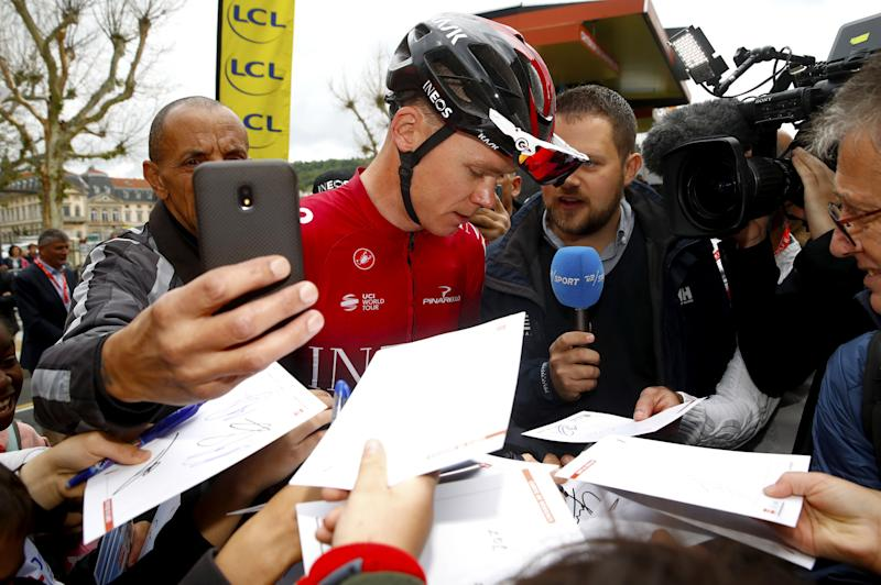 Chris Froome (Team Ineos) at the 2019 Critérium du Dauphiné