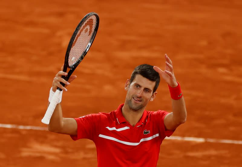 Djokovic resists gallant Tsitsipas to set up Nadal final