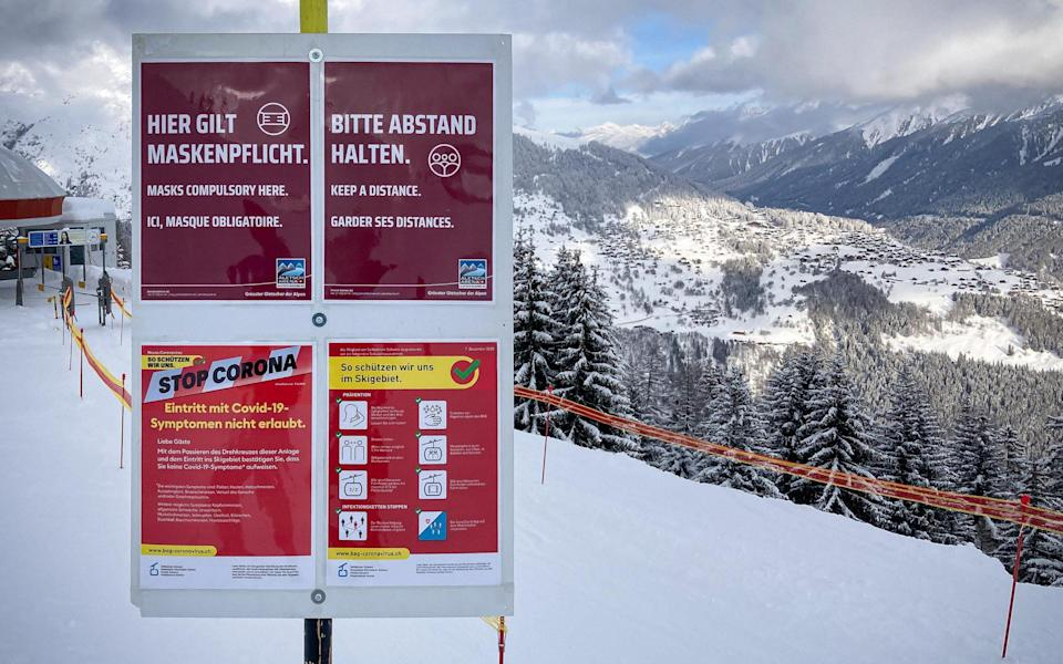The ski industry was hit hard by restrictions last year - Getty