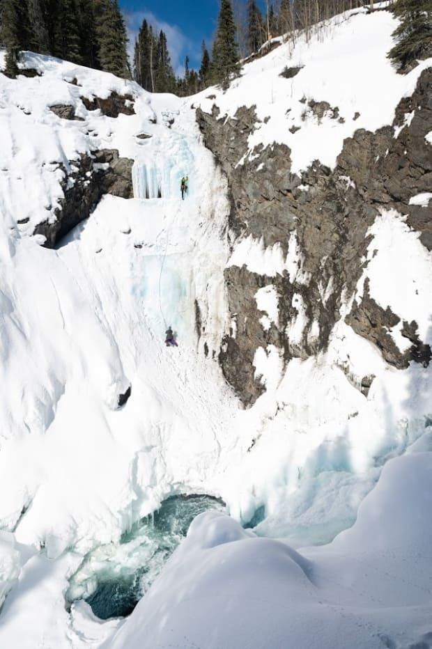 'Rappelling down to essentially a non-existent platform of just basically ice-cold, frigid water was relatively terrifying,' Turcotte said.