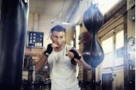 """<p>Sweat can be a <a href=""""https://www.menshealth.com/health/a19516798/fit-guys-sweat-more/"""" rel=""""nofollow noopener"""" target=""""_blank"""" data-ylk=""""slk:sign of peak fitness or a commitment to shaping up"""" class=""""link rapid-noclick-resp"""">sign of peak fitness or a commitment to shaping up</a>. """"People who are more fit tend to start sweating sooner into their exercise regimen because they have adapted to be more efficient at maintaining a lower body temperature while exercising,"""" explains Weissman. </p><p>Out of shape and notice you're dripping? While fit men tend to sweat faster than couch potatoes, guys who are overweight have more insulation, which means they create more heat and may sweat more throughout a workout, too, says Weissman.</p>"""