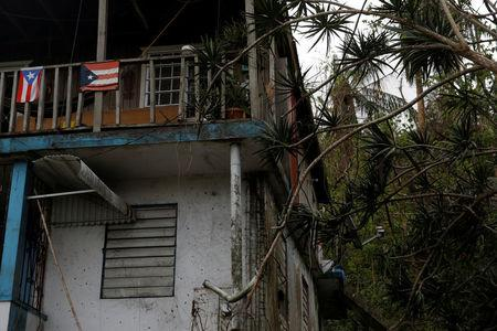 A home damaged by Hurricane Maria is seen in the Trujillo Alto municipality outside San Juan, Puerto Rico, October 9, 2017. REUTERS/Shannon Stapleton