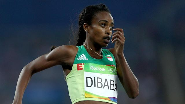In a competitive race, there was another gold medal for Genzebe Dibaba in the women's 3000 metres at the IAAF World Indoor Championships.