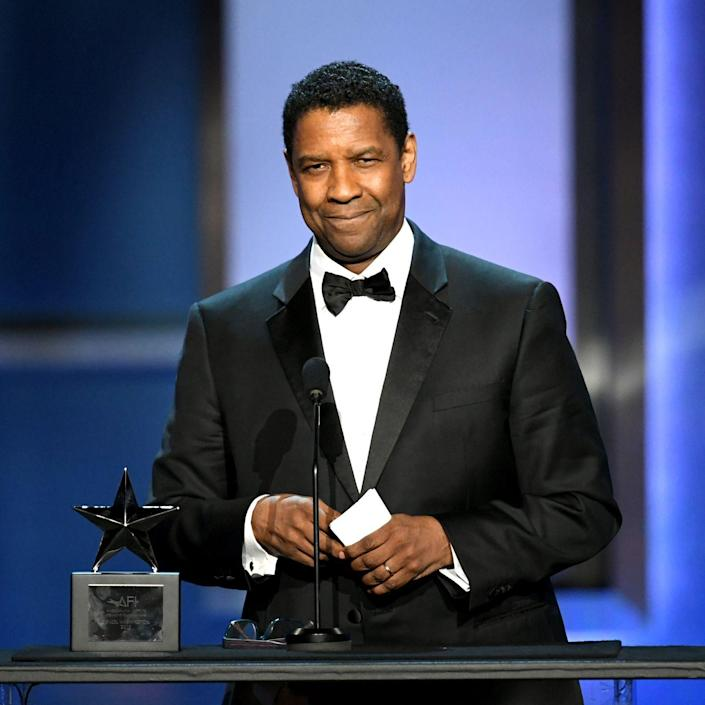 """<p>Now: Denzel Washington has had an <a href=""""https://www.imdb.com/name/nm0000243/?ref_=nv_sr_srsg_0"""" rel=""""nofollow noopener"""" target=""""_blank"""" data-ylk=""""slk:impressive career"""" class=""""link rapid-noclick-resp"""">impressive career</a> spanning more than four decades. He has three Golden Globes, one Tony Award, one Screen Actor's Guild Award and two Academy Awards. Washington is known for his portrayal of real people, like Malcolm X and Herman Boone in Remember the Titans, and military or law enforcement personnel.</p>"""