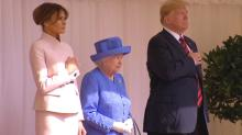 Melania Trump Wears Fitted Pink Suit to Meet Queen Elizabeth After Lawn Bowling Game