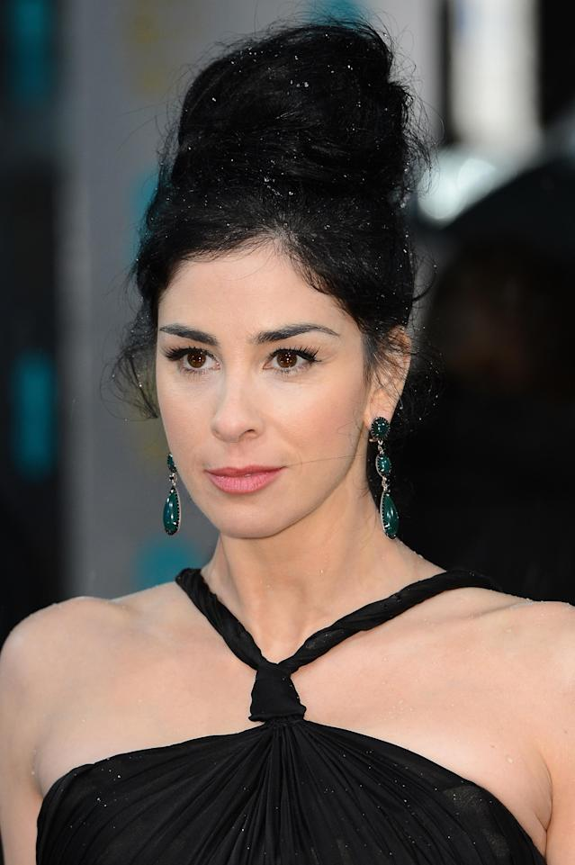 LONDON, ENGLAND - FEBRUARY 10: Sarah Silverman attends the EE British Academy Film Awards at The Royal Opera House on February 10, 2013 in London, England. (Photo by Ian Gavan/Getty Images)