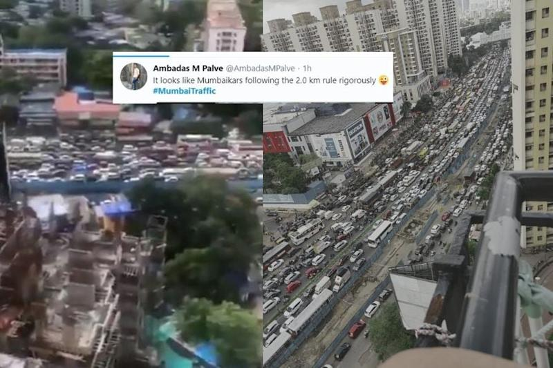 Twitter Floods with #MumbaiTraffic Videos as '2 km Rule' to Fight Covid-19 Brings City to a Halt