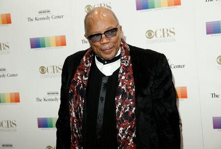 Musician Quincy Jones arrives for the Kennedy Center Honors in Washington, U.S., December 3, 2017. REUTERS/Joshua Roberts