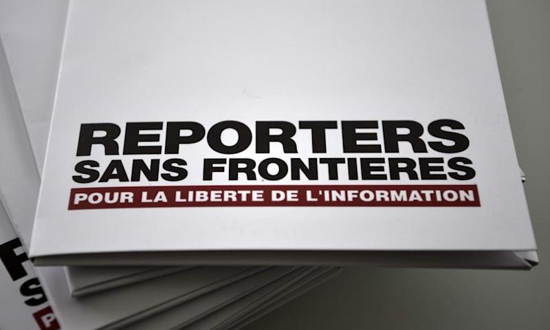 Pile of Reporters Sans Frontières press freedom reports