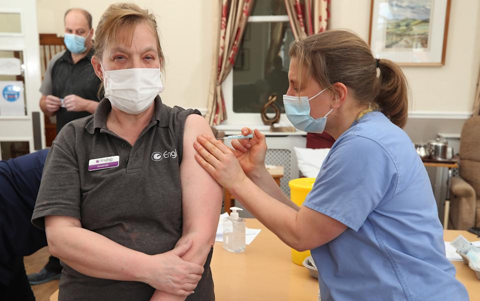 Most care workers have received their first jab (PA)
