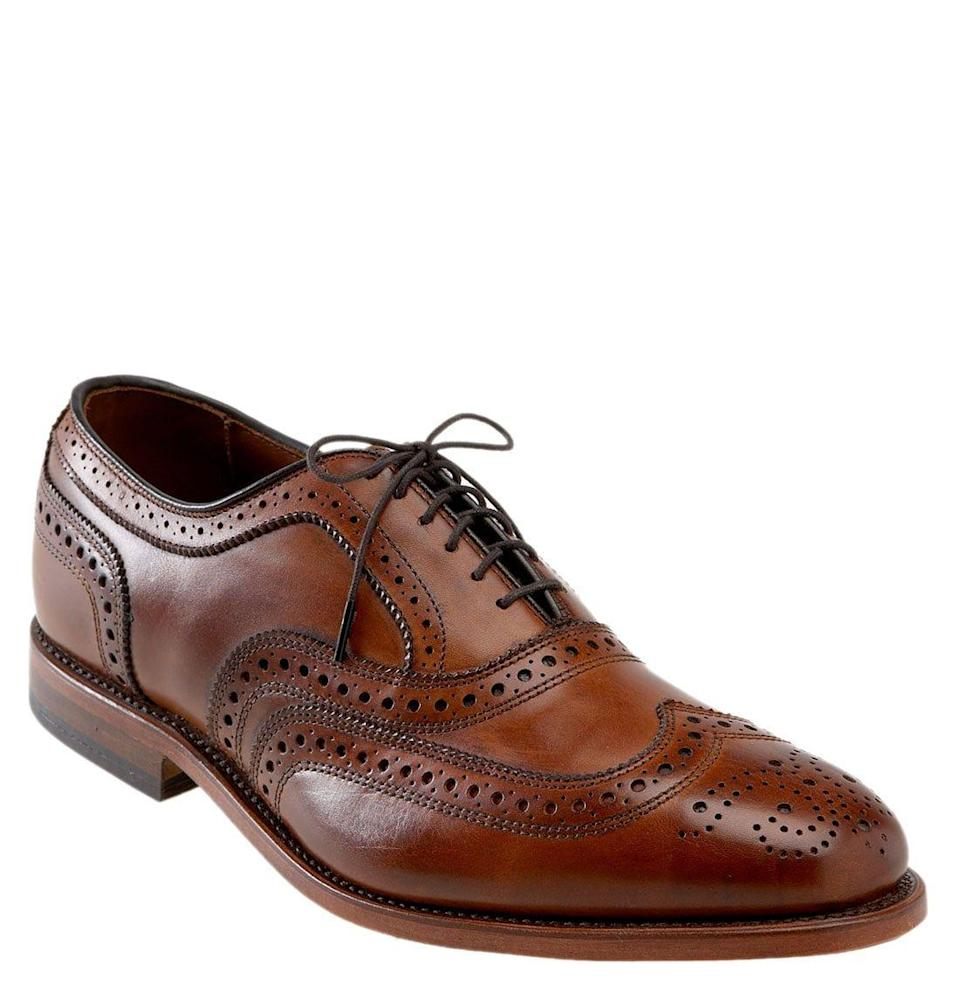 """<p><strong>ALLEN EDMONDS</strong></p><p>nordstrom.com</p><p><strong>$316.00</strong></p><p><a href=""""https://go.redirectingat.com?id=74968X1596630&url=https%3A%2F%2Fshop.nordstrom.com%2Fs%2Fallen-edmonds-mcallister-wingtip-men%2F3039210&sref=https%3A%2F%2Fwww.menshealth.com%2Fstyle%2Fg19545927%2Fbest-dress-shoes%2F"""" rel=""""nofollow noopener"""" target=""""_blank"""" data-ylk=""""slk:BUY IT HERE"""" class=""""link rapid-noclick-resp"""">BUY IT HERE</a></p><p>These perforated wingtips are a classically formal shoe. They are a little bit old-school but purposeful. These Allen Edmonds belong with a navy suit. </p>"""
