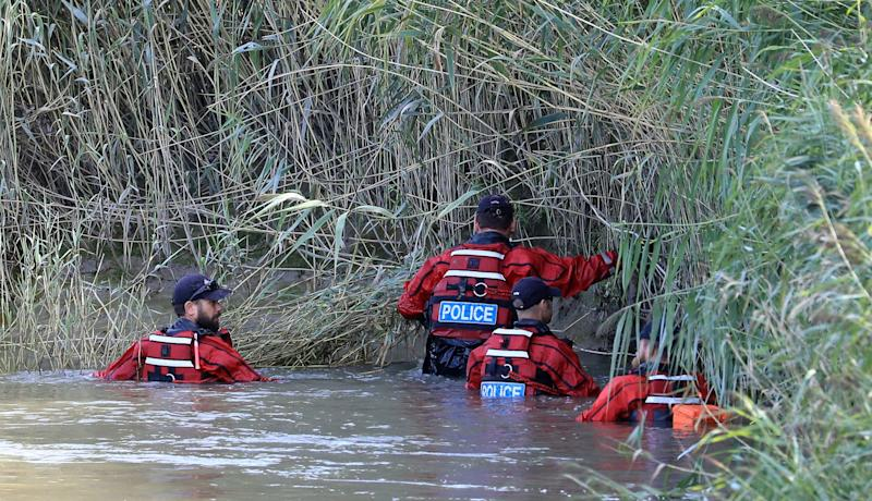 Search and rescue teams searched the banks of the River Stour (PA)