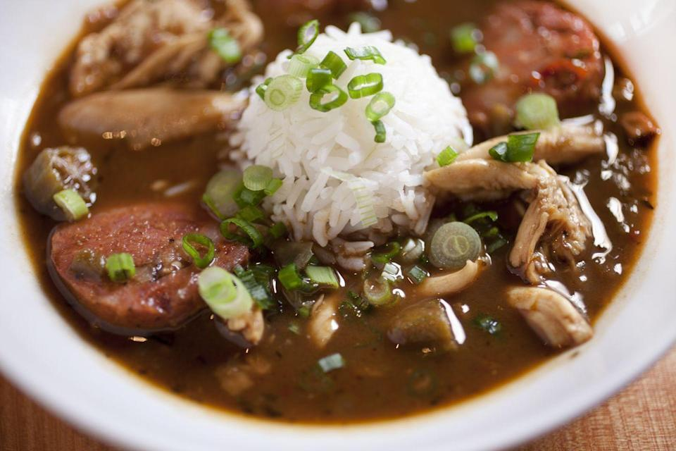 "<p>Would any kind of Creole Christmas be complete without it? No matter what you put in your gumbo—though most star shrimp or sausage in theirs—it's sure to be a Christmas hit.</p><p>Get the <a href=""https://www.delish.com/cooking/recipe-ideas/a54681/easy-seafood-gumbo-recipe/"" rel=""nofollow noopener"" target=""_blank"" data-ylk=""slk:recipe"" class=""link rapid-noclick-resp"">recipe</a>.</p>"