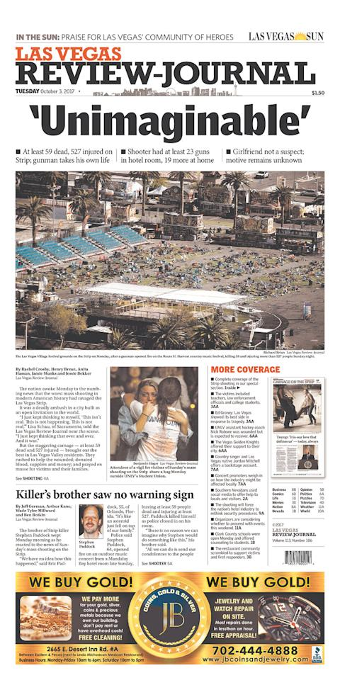 "<p>""Las Vegas Review-Journal,"" published in Las Vegas, Nev. (newseum.org) </p>"